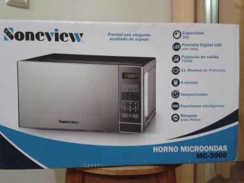 Horno Microondas, Marca Soneview, Capacidad 20 Litros.