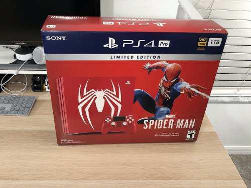 Playstation 4 Pro Limited Edition Console Spiderman Nuevas