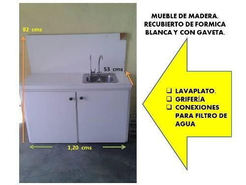 Gabinetes De Madera Y Formica Como Nuevo