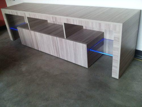Mueble De Tv Ultra Moderno Con Iluminacion Led Minimalista