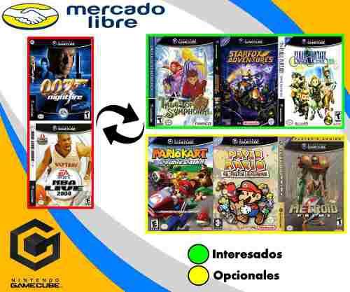 Cambio De Juegos De Gamecube
