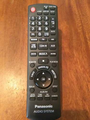 Control Remoto Para Equipo De Sonido Panasonic (original)