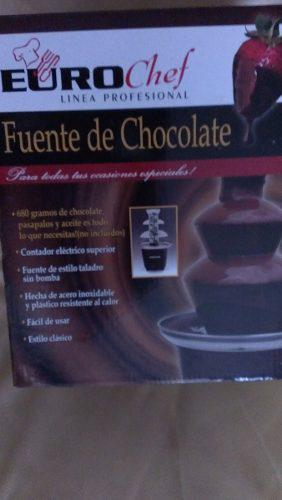 Espectacular Fuente De Chocolate Eurochef 3 Niveles