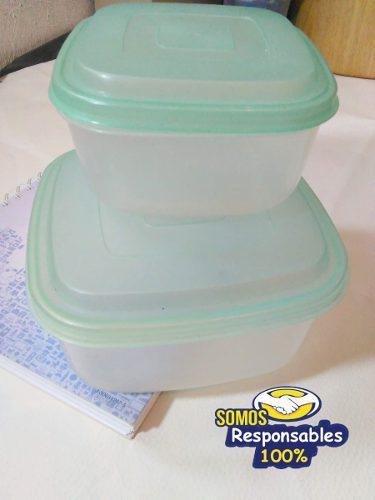 Potes Almuerzo Envases Comida No Herméticos Usados Pack De