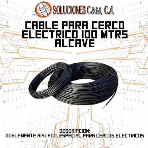 Cable Para Cerco Eléctrico Alta Tensión 100 Metros