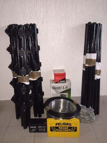 Cerco Electrico Kit 40 Metros 5 Hilos, Listo Para Instalar