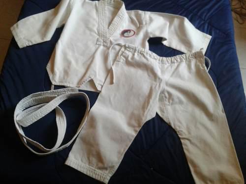 Kimono Para Niño Con Cinturon Blanco