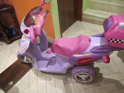 Moto Con Bateria Recargable Rosada Para Ñina