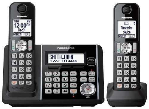 Telefono Inalambrico Panasonic Con Contestador 2 Bases