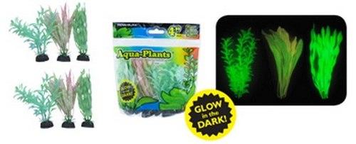 Penn Plax Plantas Plasticas Para Acuarios X 6 Unid, 10 Cms
