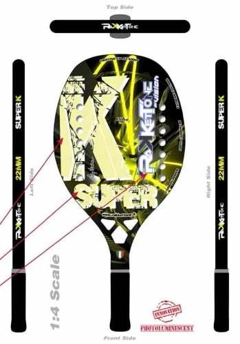 Raqueta De Beach Tennis Rakkettone Super