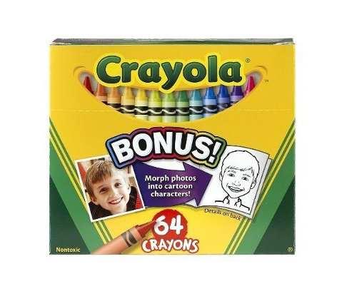 Crayola 64 Creyones Con Sacapunta Para Niños Nuevo