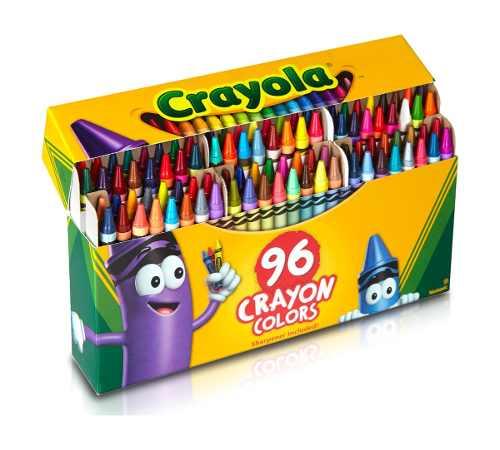 Crayola 96 Creyones Con Sacapunta Para Niños Nuevo