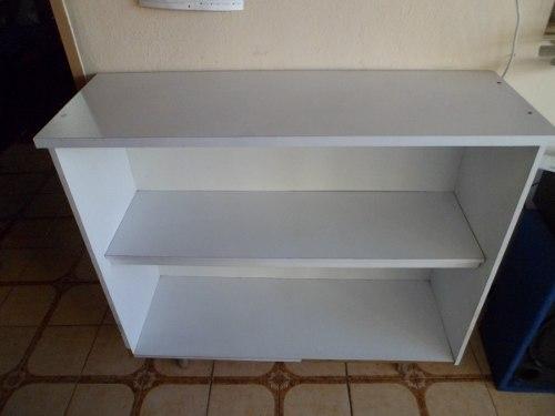 Biblioteca En Madera Blanca Negociable -