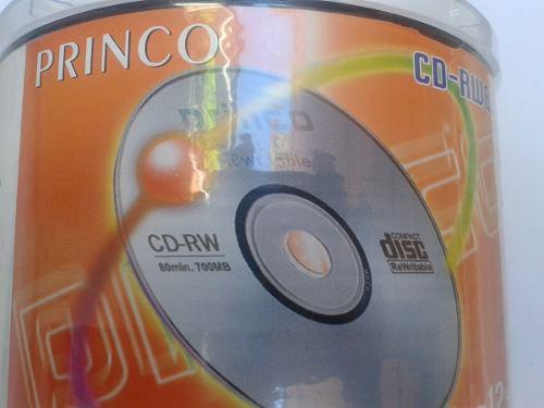 Cd Princo Rw Regrabable 4x-12x 80min/700mb Torre De 50 Unid