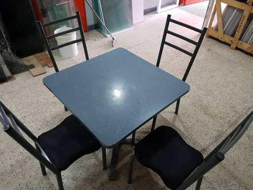 Combo De Pantry Mesa Y 4 Sillas Para Restaurant O Bar