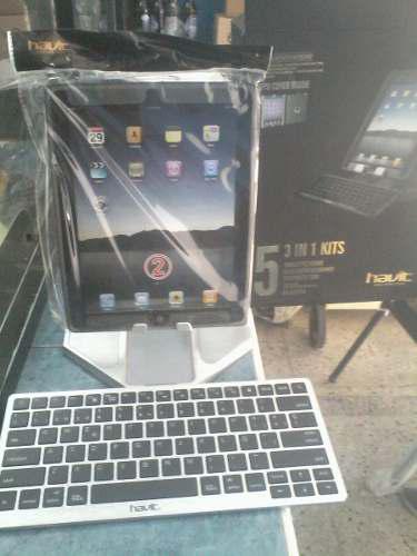 Kit De Accesorios Para Tablet Forro Teclado Y Porta Tablet