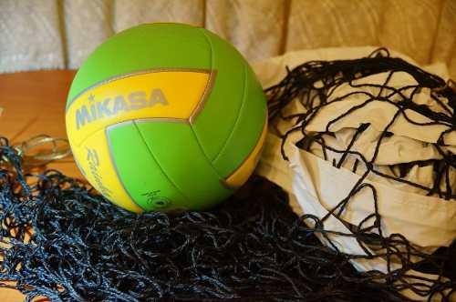 Malla De Voleibol + Balón De Voleibol Mikasa