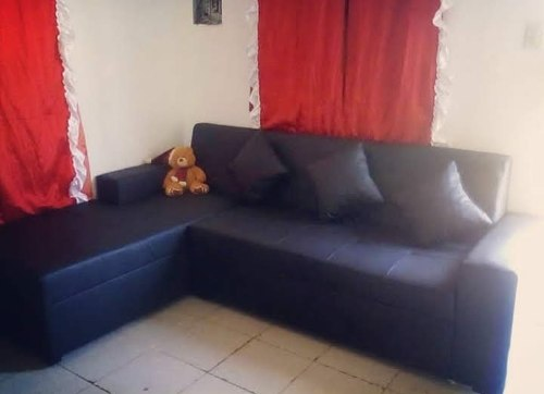 Mueble Sofa Modular Negro Semicuero