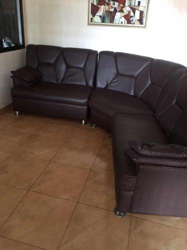 Muebles Modulares En Semi Cuero Marron