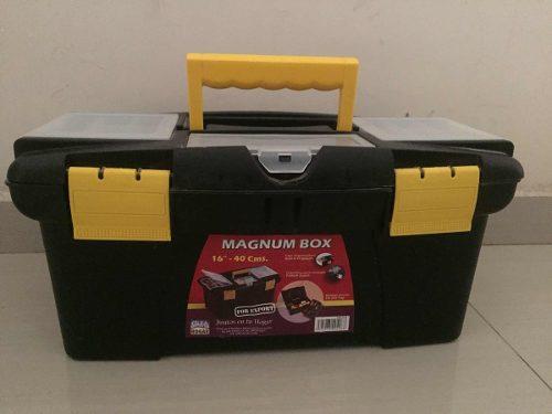 Caja De Herramientas Grande, Plástica, Magnun 16 Alfahogar