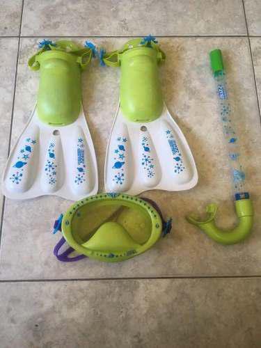 Kit De Buceo Niños Careta Snorkel Chapaleta