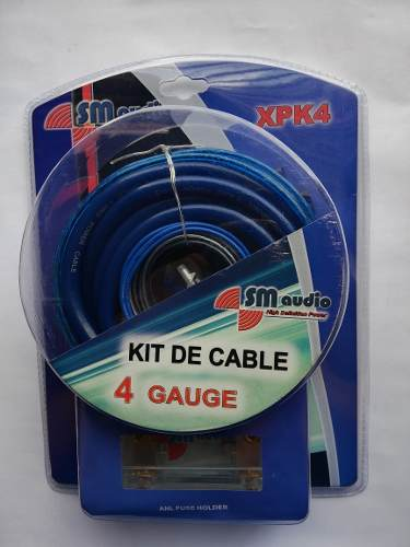 Kit De Cable #4 Sm Audio Para Instalacion De Sonido