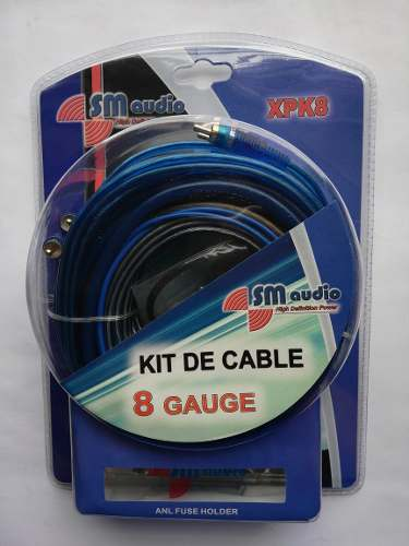 Kit De Cable #8 Sm Audio Para Instalacion De Sonido