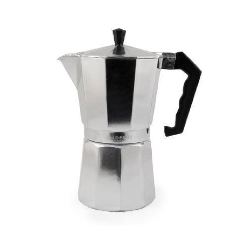 Cafetera Greca Acero Inoxidable Marca Adesso 6 Tazas Pop Reg