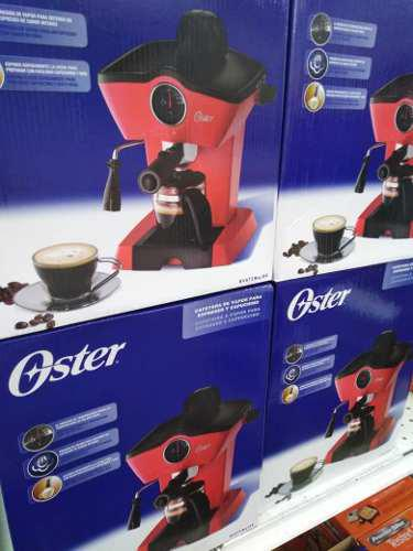 Cafetera Oster Expreso 4 Tazas Roja Bvstem4188