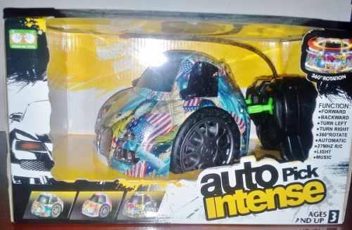 Carro A Control Remoto Giratorio Con Luces Y Sonido