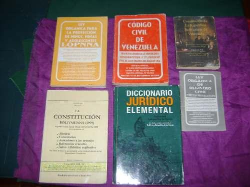 Se Vende Combo 6 Libros Para Estudiante De Derecho