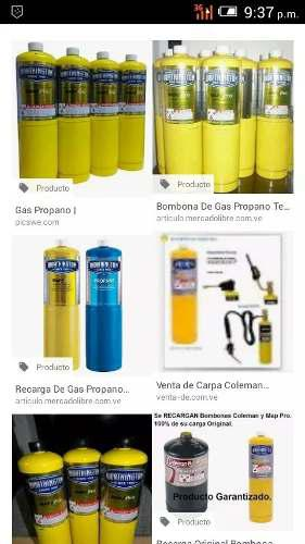Recarga De Bombona De Gas Propano Coleman
