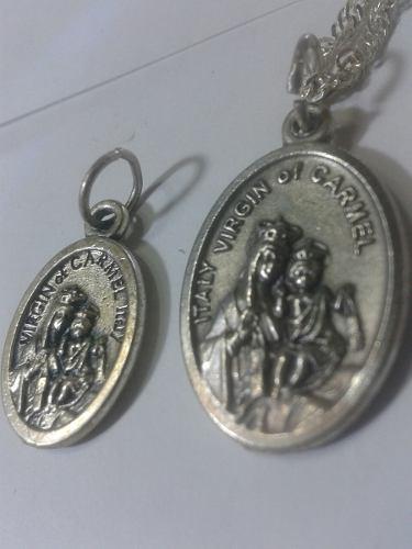 295 Se Vende Medalla De La Virgen Del Carmen En Alpaca T.m