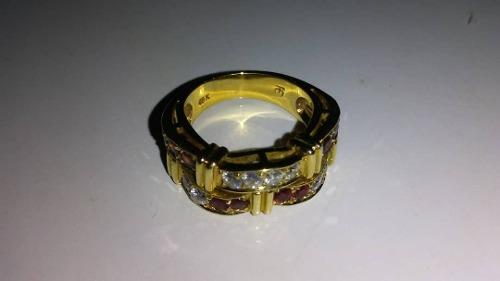 Anillos De Oro 18k, Con Rubies Y Diamantes