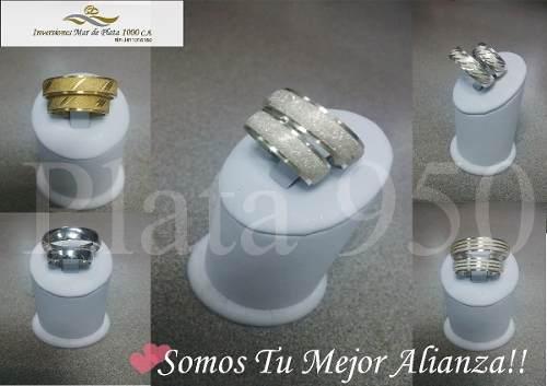 Aros De Matrimonio Plata Ley 950!! Oferta Del Mes !!