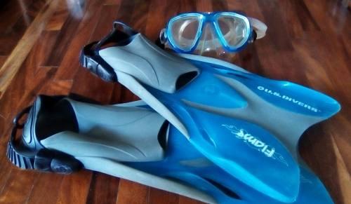 Chapaletas Y Mascara De Buceo Us Divers