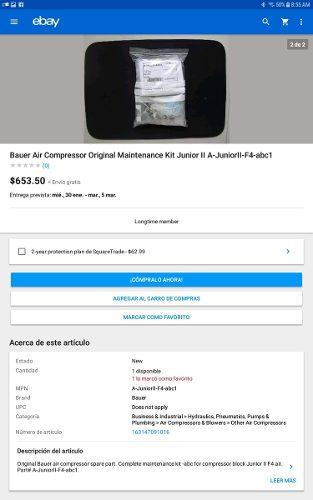 Compresor De Buceo Bauer Junior.