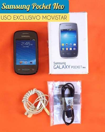 Telefono Celular Samsung Galaxy Pocket Neo Con Caja Manuales