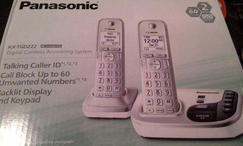 Telefono Panasonic Inalambrico Con 1 Auxiliar