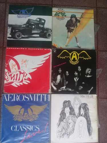 Discos Acetato Rock Heavy Aerosmith, Acdc Otros