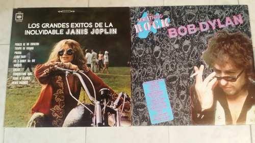 Discos Lp Acetato Bob Dylan / Janis Joplin