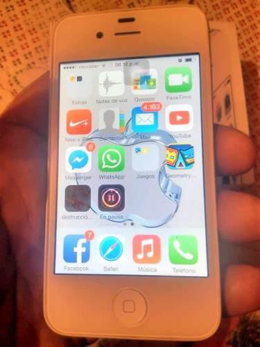 Iphone 4 De 32 Gb Solo Movistar 3g Sin Detalles Impecable