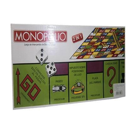 Juego De Mesa Monopolio Dos En Uno.