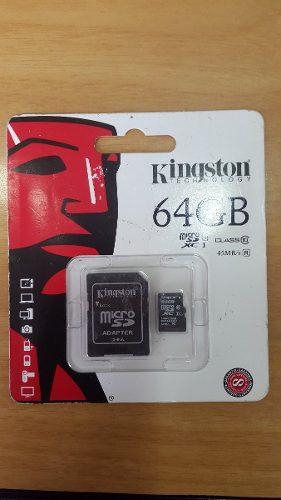Memoria Micro Sd 64 Gb Kingston Xc I Clase 10 Original
