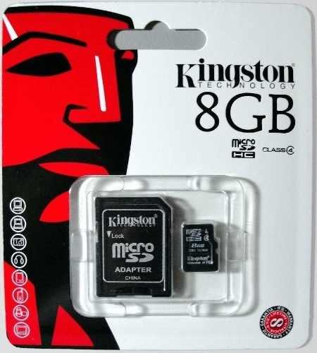 Memoria Micro Sd 8gb Kingston Class 4