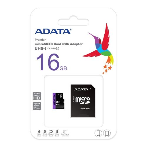 Memoria Micro Sd Adata 16gb Clase 10 C Adaptador Nuevas