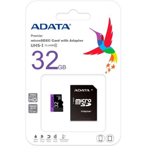 Memoria Micro Sd Adata 32gb Clase 10 C Adaptador Nuevas