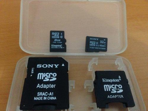 Memoria Micro Sd De 32 Gb Y 8 Gb