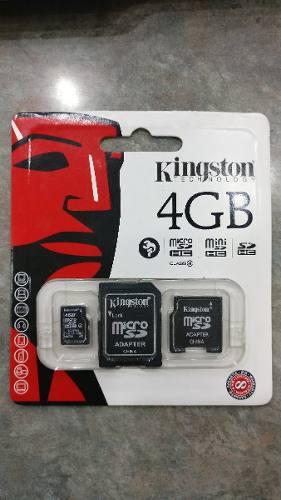 Memoria Micro Sd Kingston 4gb Clase 4, Totalmente Original.